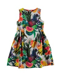 Molo Sleeveless Cotton Fruit Print Dress Multicolor