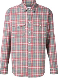 Julien David Plaid Pocket Shirt Red