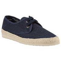 John Lewis Kin By Woven Lace Up Espadrilles Navy