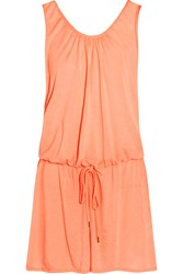 Heidi Klein Bermuda Voile Mini Dress Peach