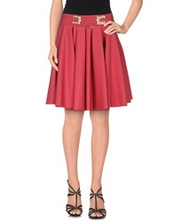 Elisabetta Franchi Skirts Knee Length Skirts Women Garnet