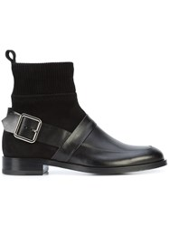 Pierre Hardy Side Buckle Boots Calf Leather Leather Calf Suede Black