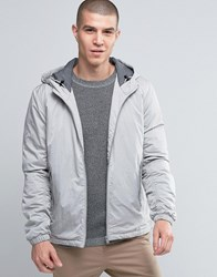 Selected Homme Hooded Jacket Light Grey