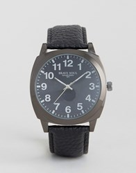 Brave Soul Black Watch With Full Figured Dial