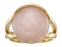 Cole Haan Round Stone Ring Gold Rose Quartz Peach Ring