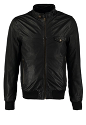 Chevignon Mike Leather Jacket Noir Black