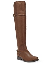 American Rag Ada Knee High Wide Calf Riding Boots Only At Macy's Women's Shoes Brown