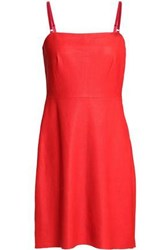 Veda Woman Suede Mini Dress Red