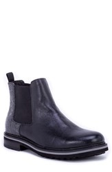 Robert Graham Yates Textured Chelsea Boot Black Leather