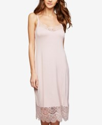 A Pea In The Pod Lace Trim Nursing Nightgown Blush