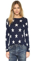 Banjo And Matilda Star Cashmere Sweater Navy Ivory