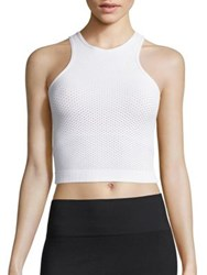 Phat Buddha Bodycon Cropped Tank Bright White
