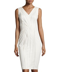 Philosophy Di Alberta Ferretti Pleated Panel Sleeveless Dress Ivory