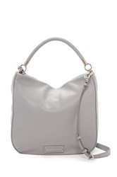 Marc By Marc Jacobs Leather Hobo Gray