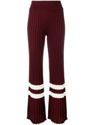 Golden Goose Deluxe Brand Stripe Trim Trousers Red