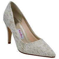 Rainbow Club Giverney Stiletto Heeled Court Shoes Ivory
