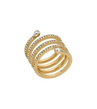 Michael Kors Pave Gold Tone Coil Ring