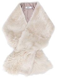 Desa 1972 Long Fur Stole Nude And Neutrals