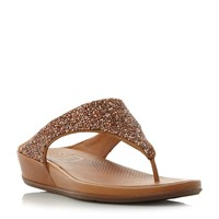 Fitflop Branda Roxy Embellished Wedges Rose Gold