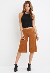 Forever 21 Faux Suede Culottes Tan