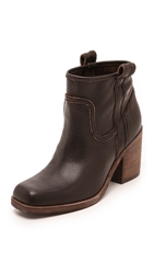 Belle By Sigerson Morrison Lagoon Square Toe Booties Dark Brown