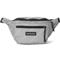 Balenciaga Explorer Printed Shell Belt Bag Silver