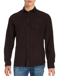 Selected Elliot Button Front Flannel Shirt Bitter Chocolate