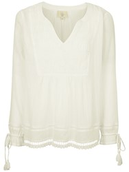 Fat Face Whitby Blouse Ivory