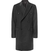 Paul Smith Double Breasted Wool And Cashmere Blend Coat Charcoal