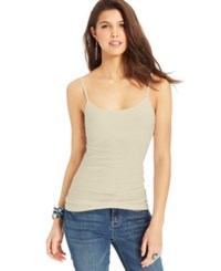 Planet Gold Juniors' Spaghetti Strap Tank Top Sand