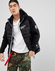 Aape By A Bathing Ape Quilted Jacket With Hood Black