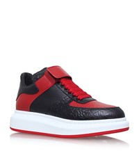 Alexander Mcqueen Leather Velcro High Top Sneakers Male Black