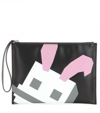 Mcq By Alexander Mcqueen Bunny Pouch Printed Clutch Black