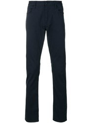 Armani Jeans Slim Fit Trousers Cotton Spandex Elastane Blue