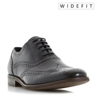 Dune Wrugby Wide Fit Oxford Formal Brogues Black