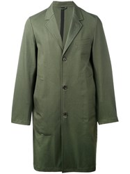 Stutterheim Single Breasted Coat Men Cotton Polyurethane L Green