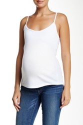 Michael Stars Camisole Maternity Tank White