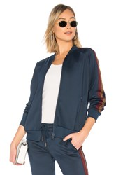 Pam And Gela Track Jacket With Lurex Stripe Blue