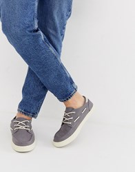 Toms Boat Shoes In Grey