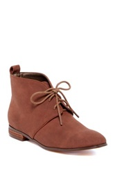 Michael Antonio Paisley Lace Up Flat Boot Brown