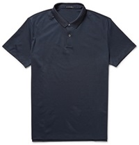 Theory Sandhurst Pima Cotton Blend Polo Shirt Blue