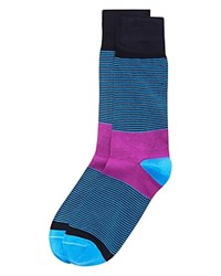 Bruno Magli Thin Stripe Socks Purple