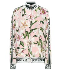 Dolce And Gabbana Floral Stretch Cady Track Jacket Pink