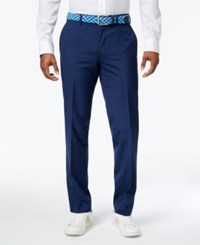 Bar Iii Men's Slim Fit Blue Plaid Pants Only At Macy's