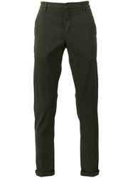 Dondup Cropped Chino Trousers Green