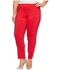 Krazy Larry Plus Size Pull On Ankle Pants Red Women's Dress Pants