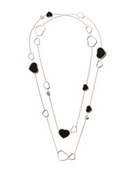 Chopard 18Kt Rose Gold Happy Hearts Onyx And Diamond Sautoir Necklace Unavailable