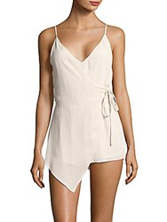 Lucca Couture Faux Wrap Romper Stone