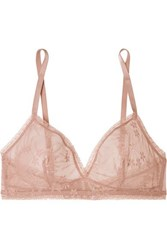 Eres Bang Stretch Lace Soft Cup Triangle Bra Antique Rose