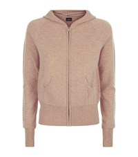 William Sharp Embellished Cashmere Hoodie Female Brown